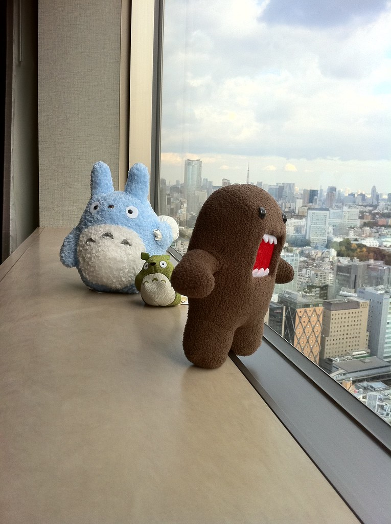 Totoros and Domo in Japan *Shibuya)