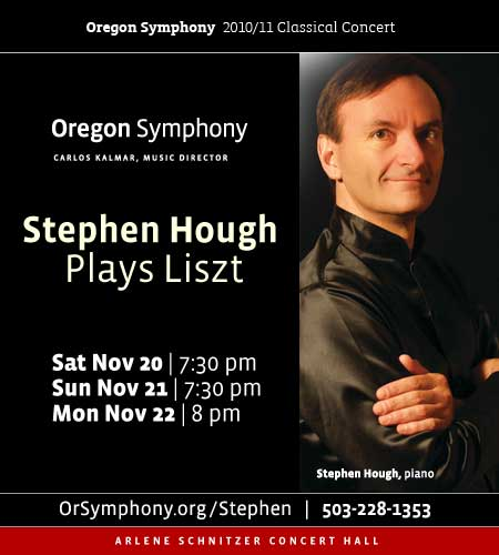 Oregon Symphony Presents Acclaimed British Pianist Stephen Hough Playing Franz Liszt's Piano Concerto No. 1