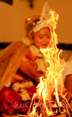 Marriage: A trial by fire... (Akash -Tales from Shining and Sinking India) Tags: wedding indian great first shy headlines leap bengali banerjee photographyx weddingx bridexindian weddingxindian bridexthe traditionxbengali traditionxshubho dristhixthe lookxarranged marriagexweddingxmarrige faithxwedding unknownxakash banerjeexakash todayxakash
