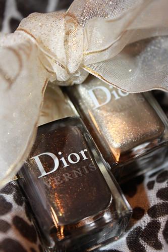 Dior Timeless Gold & Czarina Gold Nail Polishes