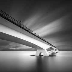 Zeeland bridge (Maria Stromvik) Tags: longexposure bridge sea sky cloud seascape motion holland water netherlands architecture waterscape ndfilter zeelandbridge nd110 bwnd110 bwnd8