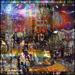Park Angst (Tim Noonan) Tags: park urban abstract art digital photoshop buildings colours shapes surreal manipulation figure mosca hypothetical vividimagination artdigital shockofthenew sotn sharingart maxfudge awardtree maxfudgeexcellence maxfudgeawardandexcellenceg