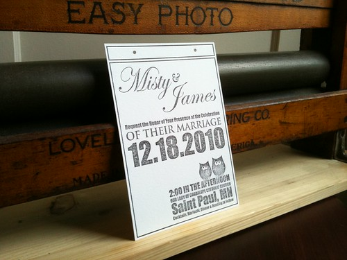 Misty and James' Wedding Invitation