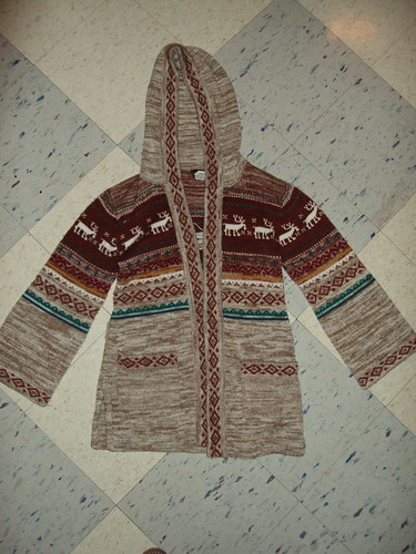 Hooded Deer Sweater Coat