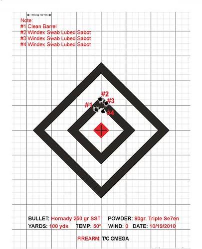 Four Shot Target After Omega Stock Work - HuntingNet com Forums