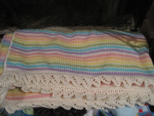 Blanket knit by the amazing Megan