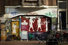 Amsterdam Graffiti (pepemczolz) Tags: amsterdam graffiti bikes egyptian amsterdamsonya350minolta50mmf17