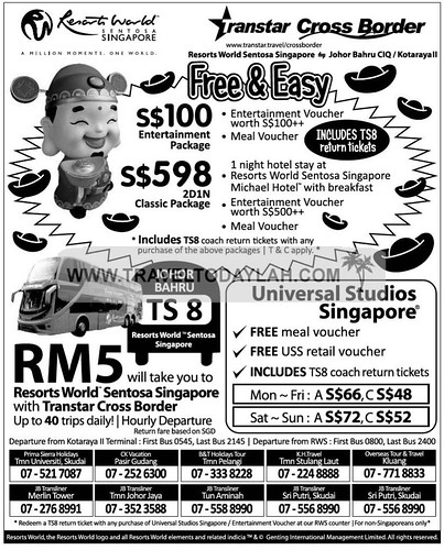 Singapore Resorts World Sentosa holiday packages | TravelTodayLah ...
