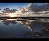 Walking in the clouds, another tog Crosby beach, Explore Frontpage (Ianmoran1970) Tags: sunset sky cloud sun reflection beach water wonderful person boots explore walker flare frontpage muddyboots explored ianmoran ianmoran1970