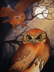 spirit of the Owl (charlesew) Tags: animals illustration drawing owl owldrawing