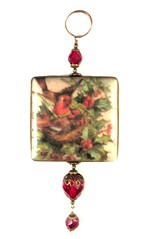 2010 Holiday Collection - Victorian Romance - Birds andHolly Ornament