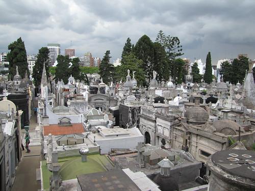Cimetiere de Recoleta vu depuis l'Iglesia de Nuestra Señora del Pilar