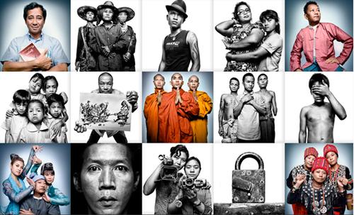 Exiliados birmanos, por Platon