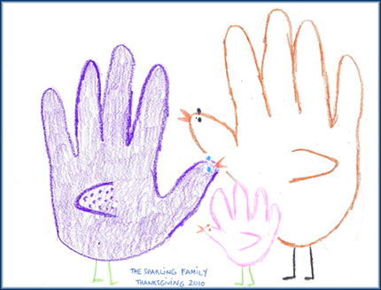 Gobble gobble ... but don't gobble crayons.  They don't taste very good.