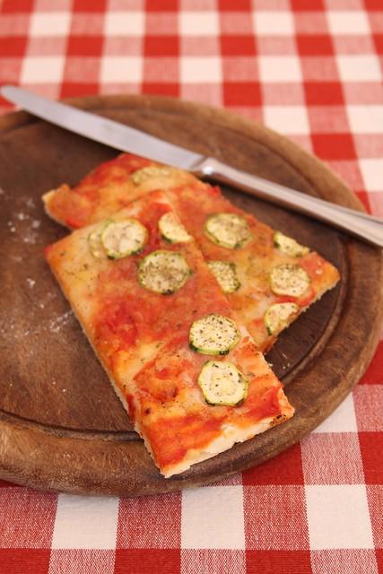 Pizza con le zucchine