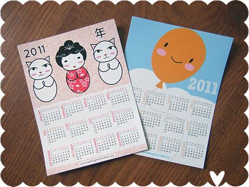 2011 Calendar Magnets