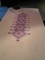 tafelkleed hardanger (borduurmarleen) Tags: crossstitch blackwork borduren kruissteek platsteken hardaner zwartborduren