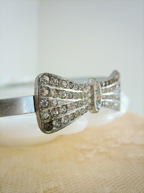 vintage silver sparkle headband