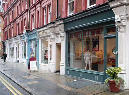 John Simons new shop, Chiltern Street, London W1.