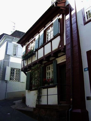 beautiful house on Rheinsprung, Basel