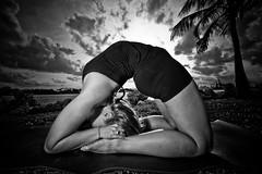 Ashtanga Vinyasa - Kapotasana (eyecbeauty) Tags: sky bw girl beauty yoga florida miamibeach southbeach flexible kapotasana greatphotographers photographyrocks ashtangavinyasa artofimages today´sbest mygearandmepremium bestshotawards