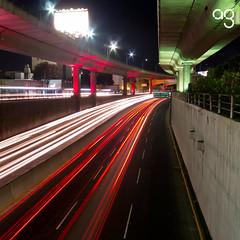 (Stromboly) Tags: street light red luz lines mxico calle trfico ros cemento reflejos segundopiso lneas concretolasflores