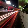 (Stromboly) Tags: street light red luz lines méxico calle tráfico ríos cemento reflejos segundopiso líneas concretolasflores