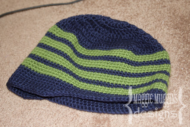 Mens Crochet Newsboy Beanie