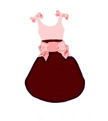 pink and burgandy dress