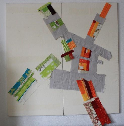 scrap quilt - the beginning