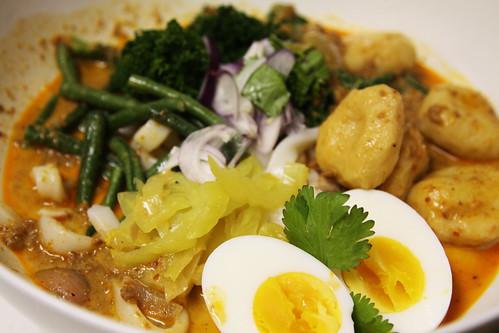 laksa curry. udon laksa curry