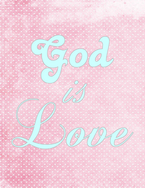 God is Love freebie
