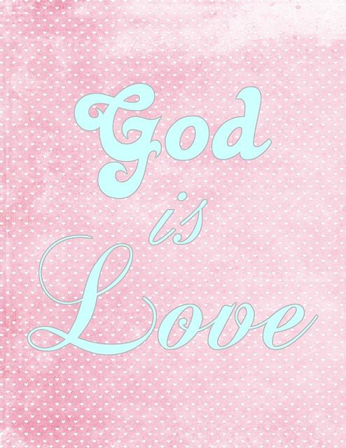 God is Love freebie