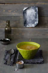 Dal (Laksmi W) Tags: stilllife green soup indian gray dal spices vegetarian tabletop lentils foodphotography mung