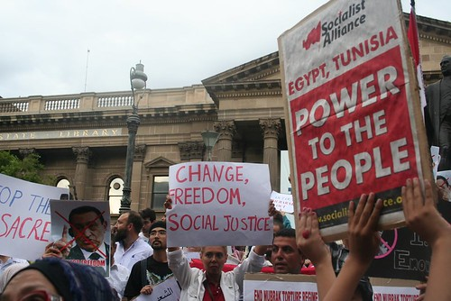 Socialist Alliance: Power to the people - Egypt Uprising protest Melbourne 4 Feb 2011