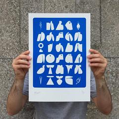 """Bilos A to Z 2017 - Blue"" (Bilos Mantho) Tags: bilos silkscreen screenprint print design limited graffiti alphabet forms letters"