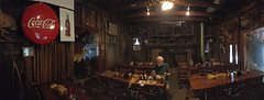 Heavy's Bar-B-Que (davidwilliamreed) Tags: rustic interior heavysbarbque crawfordville ga tafiaferrocounty restaurant cafe pano panorama mybrothersteve