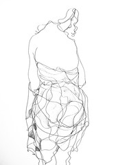 P1016682 (Gasheh) Tags: art painting drawing sketch portrait figure girl line pen gasheh 2015