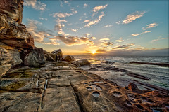 That's a plan (JustAddVignette) Tags: landscape australia clouds cold dawn early landscapes newsouthwales northcurlcurl northernbeaches ocean rockpool rocks seascape seawater sky sun sunrise sydney water waves