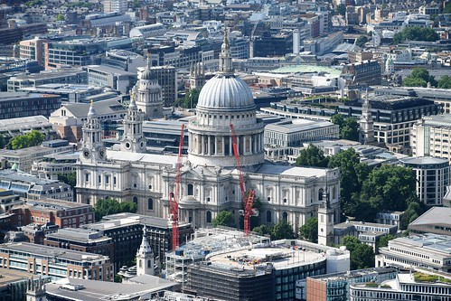 St Paul's Cathedral from The View at The Shard, Level 72