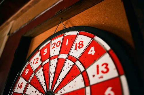 dartboard on film