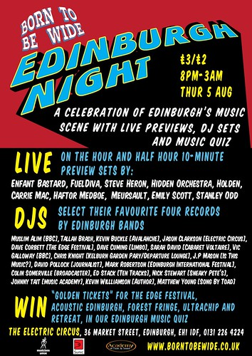 Born To Be Wide celebrates Edinburgh music scene