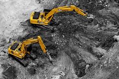 [フリー画像] 工場・産業機械, ショベルカー・ユンボ, 工事, 201007290700
