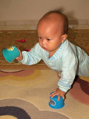 Justin cup crawling