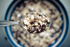 [6/365] (bluemello) Tags: morning food breakfast photoshop canon eos essen 300d spoon cereals lffel frhstck lightroom 50mm18 muesli msli frhs