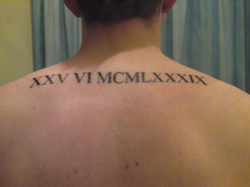 Roman Numerals Tattoo (Set) · UK TATTOO INK (Group)