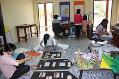 การจัดเตรียมงานเปิดโรงเรียนศรีแสงธรรม
