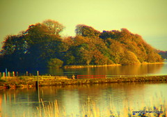 The Old Pier. (B4bees) Tags: autumn trees fence colours pierhead lochlake