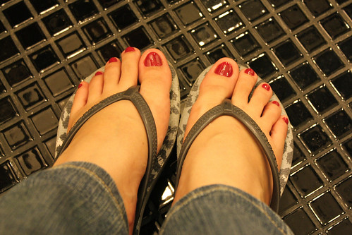Me and my red toenails!