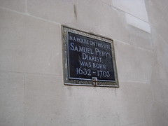 Samuel Pepys' historical marker, London